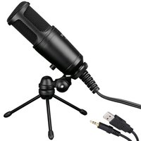 address cell phone - Takstar GL FX USB Cable Wired Condenser Side address Recording Mic Microphone with Tripod Desktop Mic Stand High Quality I1567