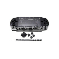 Wholesale Black Full Housing Repair Mod Case Buttons Replacement for Sony PSP Console button scarf