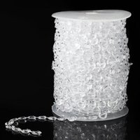 acrylic dreams - Dream Wedding Clear Crystal Acrylic Beads Roll Hanging Garland Strand Wedding Birthday Christmas Decor DIY Curtain Meters