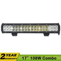 beam car - 108W Inch Cree LED Work Light v Car Bar Spot Flood Combo x4WD For JEEP ATV Fog OFF ROAD TRUCK SUV W W