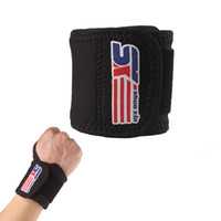 Wholesale New Arrival Sports Elastic Stretchy Wrist Joint Brace Support Wrap Band Unique Thumb Loop Design wrist support bracelet