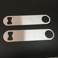 beer bar - 100PCS Multifunction Bottle Opener Large Stainless Steel Flat Bottle Opener Tool Bar Beer Wine Openers