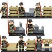 Wholesale DLP9020 Military World War II Minifigures Assault Force Specia Force Building Blocks Set Models Figures Toys