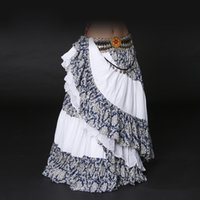 ats skirts - Tribal Belly Dance Hight Quality Skirts ATS Performance Cotton Flamenco Clothing Cotton Long Full Circel Skirt Gypsy Dance