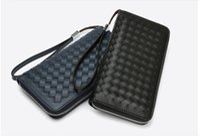 Wholesale Designer Fashion men PU Wallet High grade Credit with bank card Holders men Purse suit Clip Long Wallets handbag business men black blue