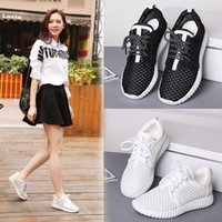 baseball cloth - 2016 new Round head Net cloth sports shoes Pure color lace up woman Casual shoes fashion Running shoes