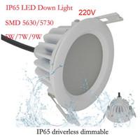 Wholesale 5w w w w w w w w w LED Downlight AC220V IP65 Waterproof Bathroom LED Ceiling Spot Light