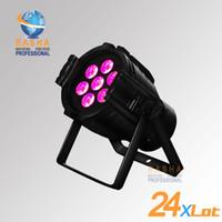 active factory - 24X Factory Price Rasha Quad V7 Aluminum7pcs W RGBW IN1Mini LED Par Can LED Par Light For Disco Event Party