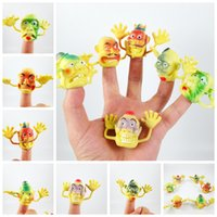Wholesale Novel PVC Big size yellow Old man funny Finger Puppet For Telling Stories Halloween Funny Toy Action Figure Toy