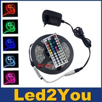 flat light - LED Strips M Set SMD leds LED Strip Light Waterproof Keys IR Remote Controller Power supply Adapter White Red RGB LED strips light