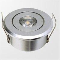 Wholesale Led Free Delivery - Super mini built-in LED downlight 1W LED Spotlight LED Ceiling Light AC85-265V warm white cold white free delivery