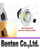 El nuevo super brillante LED regulable Downlight COB 5W 7W 9W 12W llevó la decoración luz del punto del LED empotrada en el techo Lámpara de techo AC85-265V LLFA183