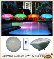 Wholesale LED PAR56 pool light W V RGB IP68 led LED Swimming Pool Light Outdoor Lighting Underwater Pond lights led piscina CE RoHS