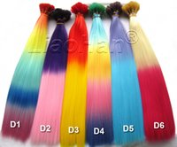 Wholesale 2016 New Fashion Ombre I tip Hair Colorful Stick Hair Colored Feather Hair Extensions for Women
