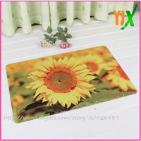 Wholesale Floor Mat Carpet Sun Flower38x58cm Rug Doormat for Bedroom Alfombras