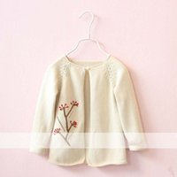 beige crochet cardigan - Girls Tops Children Cardigan Flower Sweater Knitted Sweaters Girl Dress Crochet Cardigan Child Clothes Kids Clothing Lovekiss C26656