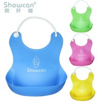 bib plastic pockets - Foreign Oem Stereo Waterproof Baby Children Plastic Imitation Silicone Bib Baby Bibs Bibs Eat Rice Pocket