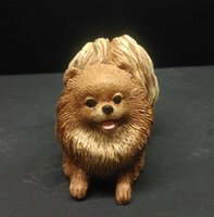 arts and crafts home - Factory Direct Simulation Dogs Resin Animal Ornaments Home Decoration The Pomeranian Small Dog Arts and Crafts