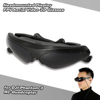 Wholesale Light Comfortable FPV Aerial Video D Glasses with mm Stereo Earphone and LCD Screen for DJI Phantom RC Quadcopter