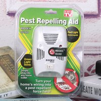 Wholesale NEW Pest Control RIDDEX Electronic Ultrasonic Rodent Pest Repelling Aid V V with Packing Box