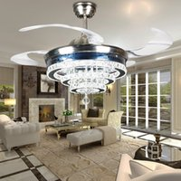 Wholesale European study lamp hanging Alloy high end fashion crystal LED modern fan ceiling fans