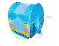 Wholesale New Arrival Folding Indoor Outdoor Toy Play Tent for Kids Blue Color Play Tent for Children