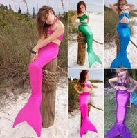bathing day - Hot Girl Kids Mermaid Tail Swimmable Bikini Set Bathing Suit Fancy Cosplay Costume Y