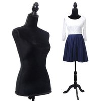 Wholesale Black Female Mannequin Torso Dress Form Display W Black Tripod Stand New