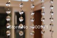 Wholesale 18 inch cm long chains crystal PRISM PENDANT for HANGING CRYSTAL GARLAND WEDDING STRAND crystal strands FREE SHIPPIG