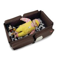 Wholesale Portable Outdoor Baby Diaper Bag Folding Travel Bed Novelty Movement Baby Bed Infant Cradles Baby Crib Safety Mommy Bag