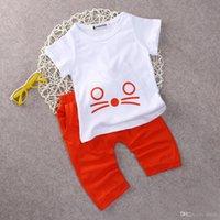 american shirts uk - 2016 sets Cartoon Cat Baby Outfits Newborn Boy Girls Infant T shirt Tops Pants Set UK