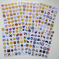 Wholesale Free DHL Emoji Sticker Pack Emoji Stickers Most Popular Emojis For Mobile Phone Kids Rooms Home Decor Tablet Sheets Pack ZD093A