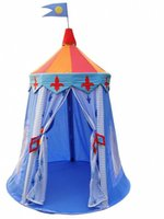 Wholesale Cotton Canvas Children Play House Colorful Prince Knight Castle Tent Medium Size