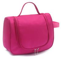 Wholesale 2016 New arrival colors waterproof Cosmetic Make Up Organizer Bag Box Case Women Casual demin zipper Travel handbags Bag