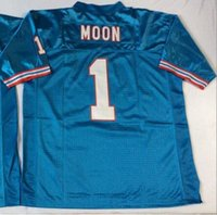 best moon - Warren Moon Jersey Throwback Football Jersey Best quality Authentic Jersey Size M L XL XXL XXXL Accept Mix Order