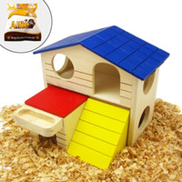 Wholesale Alfie Pet Small Animal Hideout GARI Wood Hut Living Habitat for Dwarf Hamster and Mouse Size Large