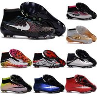 Wholesale 2016 original Mercurial Superfly FG Kids Soccer Shoes Boots CR7 Cleats Laser Youth Women Boy s Football Sneakers Eur Size