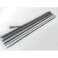aluminum flagpoles - Feather Teardrop M XL Size Banner Pole Kit Aluminum Fiberglass Pole Flagpole P shape and F type flying flag pole kits