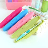 Wholesale New Travel Hiking Camping Toothbrush Protection Holder Case Box Tube Cover Mini Portable Plastic Toothbrush Case