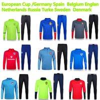 Wholesale European Cup Belgium Russia Turkey Sweden England Spain Netherlands Denmark tracksuit Survetement Fubol national soccer jersey
