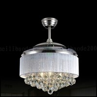 Wholesale Led Ceiling Fans Light V Invisible Blades Ceiling Fans Modern Fan Lamp Living Room European Chandelier Ceiling Light Inches