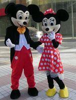 Compra Mickey mouse mascot costume-Nuevo ratón de los pares de la mascota del traje del tamaño adulto traje de la mascota de Mickey Mouse