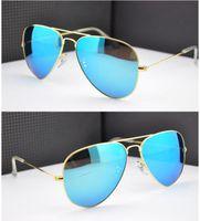 authentic sunglasses sale - Flash Mirror Sunglasses Brand Summer Sunglasses Men Women UV Protect Designer BanDtun Authentic Sunglasses Original Leather Box Hot Sale