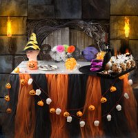 Wholesale Halloween Party Supplies Table Skirt Tableware Tulle TUTU Party Decor Baby shower Birthday
