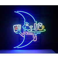 Wholesale Blue Moon Waiter Glass Neon light Sign Beer Bar Store Party Display quot quot