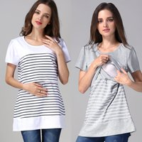 Wholesale Summer Maternity clothes Short Maternity Tops pregnancy clothes Nursing top nursing clothing breastfeeding clothes for pregnant women