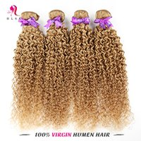 Cheap 7A Hot Selling Blond Indian Kinky Curly Braiding Hair Bundles 4 Bundles Blond Indian Remy Hair Products Dyeable Hair Weft Long Lasting