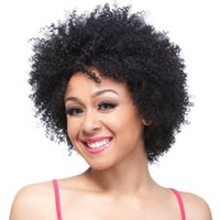 american top models - Top quality the same as model picture black synthetic cheap afro kinky curly hair wigs for africa american black women