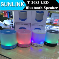 big loudspeakers - T Big Size Wireless Bluetooth Speaker Portable Stereo Sound Subwoofer Loudspeaker with Dazzle Night LED Light support TF USB FM Radio