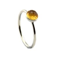 Cheap Silver Rings 100% 925 Silver silver ring November Droplet, Citrine women DIY fine jewelry 2016 NEW autumn jewelry
